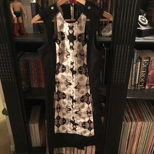 L.A.M.B Dress and black & white graphic panel